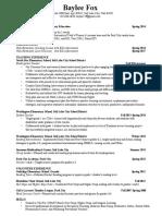 current resume baylee fox
