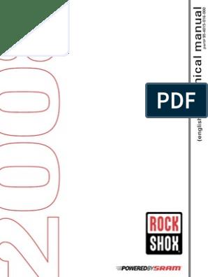 Rockshox Service Manuals 2009 | Screw | Mechanical Engineering
