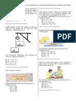 D33Identificar Uma Equação Ou Uma Inequação de Primeiro Grau Que Expressa Um Problema