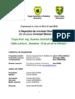 Avantprogram Cupa Profesor Ing. Dumitru Doaga Diaconescu