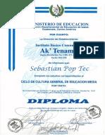 Diploma de Tercero Basico