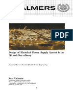 Chalmers - Design of Electrical Power Supply System in an Oil and Gas Refinery
