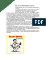 Resumen de La Obra de Paco Yunque