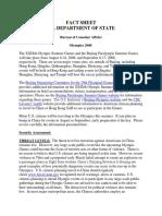 2008 Olympics Fact Sheet