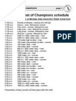 Meet Schedule