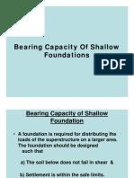 Bearing Capacity-Shallow Foundation