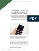 Soft Reset Cómo forzar el reinicio del Samsung Galaxy S9 y el Samsung Galaxy S9+ - tusequipos.com