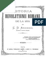 Constantin D. Aricescu - Istoria Revoluțiunii Române de La 1821
