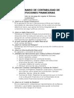 Cuestionario de Contabilidad de Instituciones Financieras Examen Primer Parcial