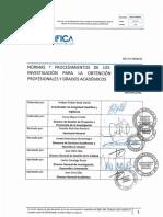 Normas y Procedimientos de Trabajos de Investigacion Para Grados y Titulos(2)