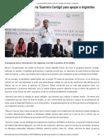 28-04-2017 Lanza Astudillo Programa 'Guerrero Contigo' Para Apoyar a Migrantes.