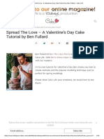 Spread the Love - A Valentines Day Cake Tutorial by Ben Fullard - Cake Life