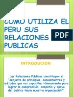 Como Utiliza El Peru Sus Relaciones Publicas