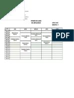 UNEXPO VRP Horarios Ing. Metalúrgica Lapso 2018-E