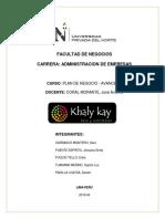 Khaly Kay Final Plan de Negocio