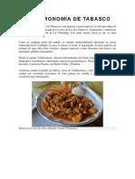 La Gastronomía de Tabasco