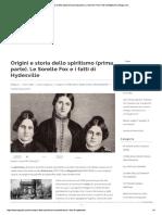 Origini e Storia Dello Spiritismo (Prim..