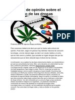 Artículo de Opinión Sobre El Consumo de Las Drogas