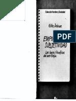 Deleuze - 1977 - Empirismo y Subjetividad