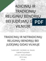 Tradicinių ir netradicinių religinių bendrijų bei judėjimų gidas Vilniuje