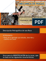 Descripción Petrográfica de Una Roca