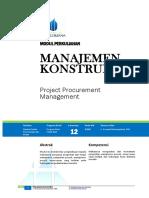 Modul 12 - Procurement Management
