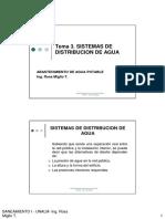Tema 3. Sistemas de Distribucion de Agua