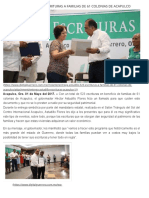 01-05-2017 Entrega Astudillo 523 Escrituras a Familias de 61 Colonias de Acapulco
