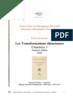 Fiche de Lecture - Les Transformations Silencieuses