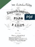 Liszt Franz Rhapsodie Hongroise Version Simplifia 74574