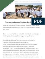 14-05-2017 Arrancan Trabajos de Limpieza Del Río La Sabana.