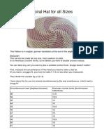 Spiral Hat Inches