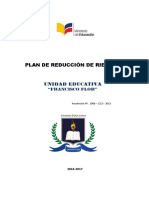 Plan de Reduccion de Riesgos u. e. Francisco Flor 2016-2017