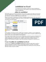 Analisis de Sensibilidad en Excel