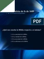 Confesión de Fe de 1689 - De Las Sagradas Escrituras -