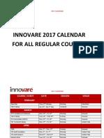 2017 Calendar Innovare