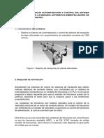 Diseño Del Sistema de Automatización y Control Del Sistema de Transporte de La Máquina Automática Embotelladora de Bebidas Rehidratantes