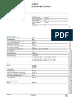 Datos Tecnmicos Interruptor Diferencial