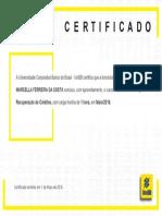 Certificado Cobranca e Recuperacao de Credito