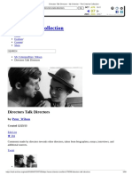 Directors Talk Directors - My Criterion - The Criterion Collection
