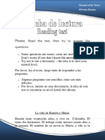 Prueba de Lectura (Reading Test)