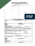 8. Solicitud de Registro de Nombre Comercial
