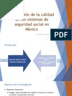 Presentación UnADM Percepción calidad sistemas salud México
