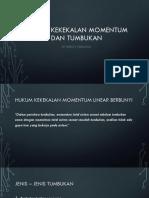 Hukum Kekekalan Momentum Dan Tumbukan