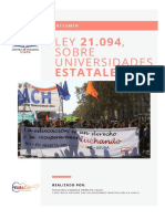 RESUMEN LEY NÚM. 21.094 SOBRE UNIVERSIDADES ESTATALES