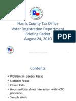 Findings - Problem Houston Votes - Rampant Voter Fraud in Houston - 8/24/2010