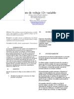 FUENTE DE VOLTAJE IEEE 12V