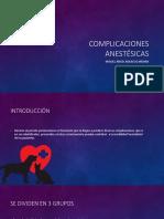 Complicaciones anestésicas