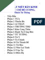 Kinh Dai Bat Niet Ban Thich Tu Thong