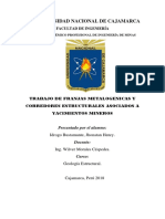 FRANJAS METALOGENICAS Y CORREDORES ESTRUCTURALES ASOCIADOS A YACIMIENTOS MINEROS.docx